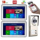 Bon prix ENNIO 10 inch Record Wired AHD 720P Video Door Phone Doorbell Intercom System Video Intercom Systems 2 Apartments