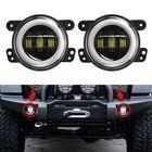 Meilleur prix 2Pcs 4'' 30W 6LED 6000K 1500LM 10-32V IP67 Round LED Headlights Fog Light Driving Lamps Hi/Low Beam DRL For Jeep Wrangler