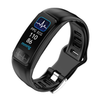 Meilleurs prix Bakeey P12 ECG+PPG Blood Pressure O2 Report Message Call Vibration Weather Display Smart Watch Band
