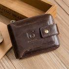 Acheter au meilleur prix Bullcaptain RFID Antimagnetic Vintage Genuine Leather 11 Card Slots Coin Bag Zipper Wallet For Men