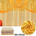 Meilleurs prix 59''x82'' Sequin Table Cloth Curtains Wedding Party Decor Photography Background
