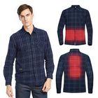 Acheter au meilleur prix TENGOO USB Electric Charging Heating Plaid Shirt Plus Velvet Long Sleeve T-shirts