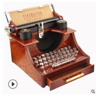 Acheter au meilleur prix Vintage Typewriter Style Mechanical Music Box Jewelry Storage Box with Drawer Home Decoration Christmas Valentine's Day Gifts