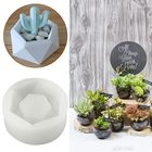 Les plus populaires Hexagon Flower Pot Silicone Molds DIY Garden Planter Concrete Vase Soap Mould