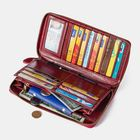 Discount pas cher Women Rfid Antimagnetic Genuine Leather Phone Wallet Purse