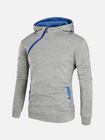 Les plus populaires Men's Casual Solid Color Sport Zipper Thick Hoodies