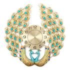 Recommandé 3D Crystal Luxury Peacock Clock Creative Modern Art Decorative Clock Mute Wall Quartz Clock