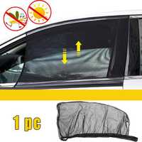 Universal Car Sun Shade Cover Black Front Side Window Provides UV Protection