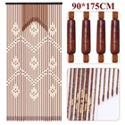 Les plus populaires 32 Lines Wooden Bead String Door Curtain Blinds Fly Screen Bedroom Divider Panel Decorations 90*175cm