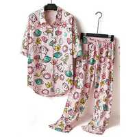 Print Cotton Pajama Set
