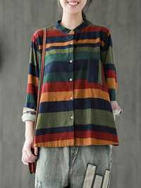 Multi-color Stripe Vintage Blouse