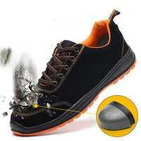 TENGOO Men's Safety Shoes Steel Toe Work Sneakers Slip Resistant Waterproof Breathable Hiking Climbing Running Shoes