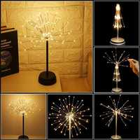 Battery Supply 90LED Firework Starburst Fairy String Light Table Lamp + Remote Control for Home Decoration
