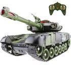 Meilleurs prix 2.4G 10CH Electric Battle RC Tank for Russian T90 Support Multi-player Infrared Army Model