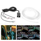 Promotion 6m RGB LED Neon EL Light Strip Colorful Car Interior Decoration Optical Fiber Tube Lights Phone APP Control
