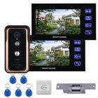 Recommandé ENNIO Touch Key Wired 7 inch Video Door Phone Video Intercom Doorbell System 2 Monitor 1 RFID IR-CUT Camera + Electric Magnetic Lock