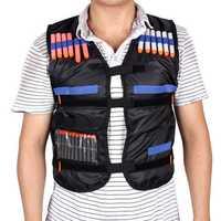 Kids Tactical Vest Jacket Explosive Vest With Adjustable Soft Bullet Field Battle Outdoor Vest