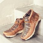 Promotion Tassel Stitching Colorful Outdoor Slip Resistant Ankle Boots