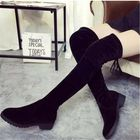 Cheap Discount Women Solid Color Square Heel Winter Over The Knee Boots