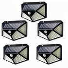 Prix de gros 5pcs 100 LED Solar Powered PIR Motion Sensor Wall Light Outdoor Garden Lamp 3 Modes