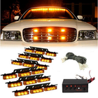 Les plus populaires 54 LED Emergency Strobe Lights Front Grill Flash Lamps with 3 Flashing Mode Yellow for 12V Vehicles