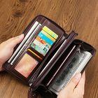 Discount pas cher Men Oil Wax Leather Vintage Long Wallet Card Holder