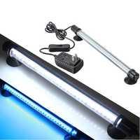 30 LED Aquarium SubmersibleWhite Blue Light Lamp Bar 230V