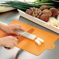 Plastic Foldable Soft Multifunctional Ultra Thin Cutting Board Light Weight Chopping Board