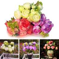 Artificial Silk Peony Flowers Home Wedding Party Bridal Decoration