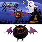 Most Popular Funny LED Halloween Bat Lanterns Paper Lamp Home Garden Decorations