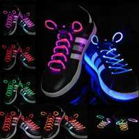 1 Pair Cool 19 Color For Pick LED Flashlight Up Glow Shoelaces Party Decoration Toys
