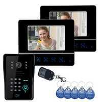 ENNIO SY811MJIDS12 Video Door Phone Touch Panel Door Lock RFID Keyfbobs