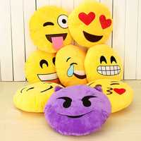 Emoji Smiley Emoticon Yellow Round Plush Soft Doll Toy