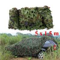 5mx1.5m Woodland Camouflage Camo Net For Camping Military Photography