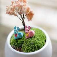 DIY Miniature Cute Deer Ornaments Potted Plant Garden Decor