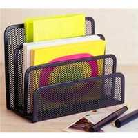 Black Office Barbed Wire Three-letter File Format Books Notepad Holder