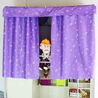 Dormitory Bunk Bed Curtain Silver Plating Star Moon Shade Cloth