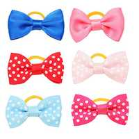 Cute Handmade Pet Hair Bows Colorful Pet Dog Cat Hairpin Hair Accessories