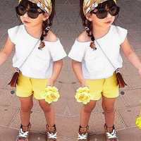 Zanzea Baby Kid Girl Clothes Casual Short Sleeve Top&Pant Trouser Short T-shirt Outfit Set