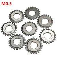 Module 0.5 PA20 Bore 16mm #1-8 HSS Involute Gear Milling Cutter