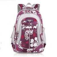 Children Backpack School Bag Flower Print Rucksack Boy Girl Tour Bags