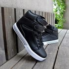 Meilleur prix New Men British Style Fashion High Top Breathable Casual Outdoor PU Non-slip Sport Shoes