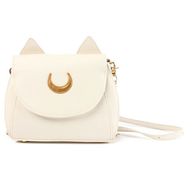AMC US$36.73 Sweet Women's Crossbody Bag Cat Shoulder Bags With Moon Print and Ear Pattern Design