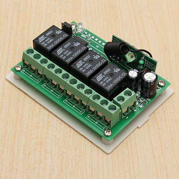 SEV US$28.71 3Pcs Geekcreit® 12V 4CH Channel 433Mhz Wireless Remote Control Switch With 2 Transimitter