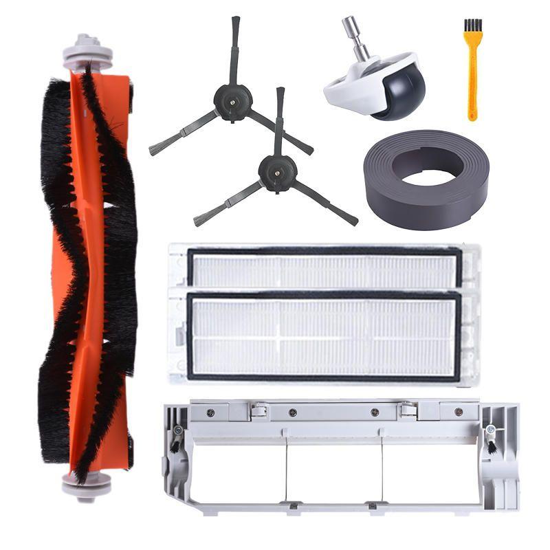 QQN US$28.26 9PCS Accessories Parts Main Brush Side Brush Filter Wheel Main Brush Cover Comb For Xiaomi Robot Vacuum Cleaner