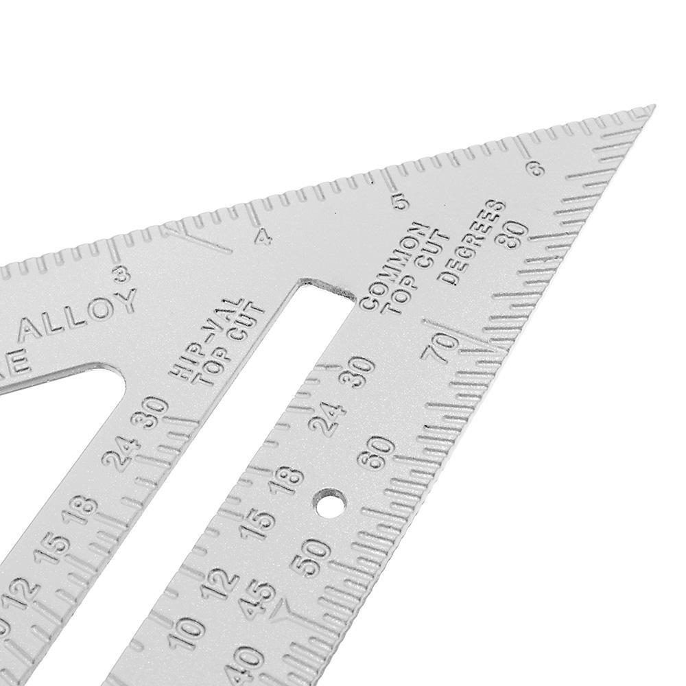 VXJ US$7.26 Aluminum Alloy Speed Square Combination Triangle Ruler Carpenter's Protractor Miter Framing
