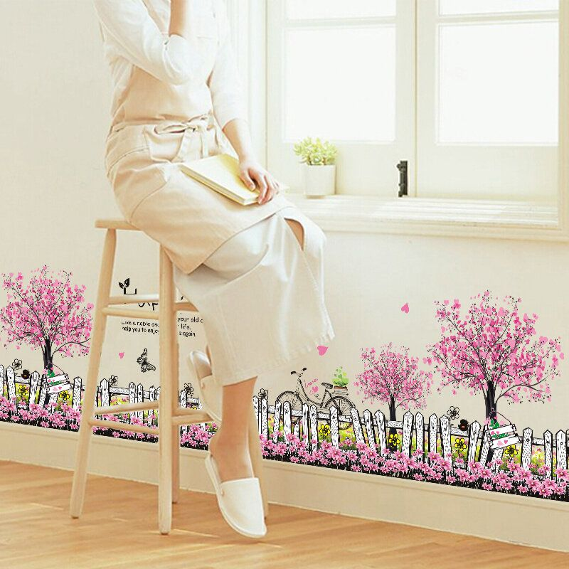 SRW US$7.93 Skirting Wall Stickers Decals 20 Patterns Home Wall Window Decor Door Skirting Board Wall Line Decal