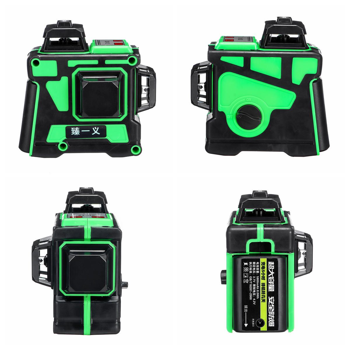 IYX US$82.04 12 Lines 360 Degree Horizontal&Vertical Cross 3D Green Laser Level Self