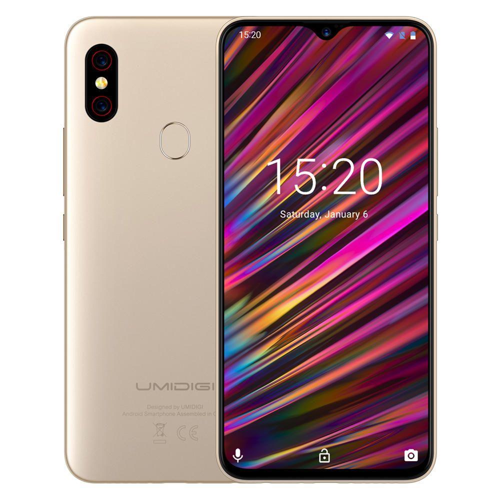 WZS US$158.99 UMIDIGI F1 Android 9.0 Global Bands 6.3 Inch FHD+ NFC 5150mAh 4GB 128GB Helio P60 4G Smartphone