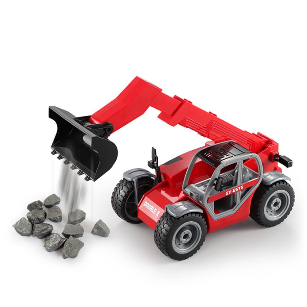 TSV US$57.15 Double E E575-003 RC Car Telescopic Arm Loading Forklift Vehicle Model Toys